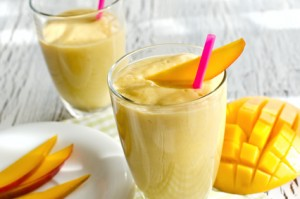 Drink with mango and yoghurt